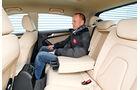Audi A5 Sportback 1.8 TFSI, Rücksitz, Beinfreiheit