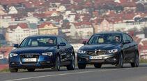 Audi A5 Sportback 2.0 TDI Quattro, BMW 320d GT xDrive, Frontansicht
