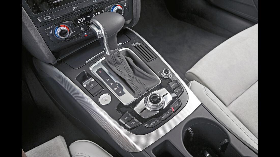 Audi A5 Sportback 2.0 TDI Quattro, Schalthebel, Mittelkonsole