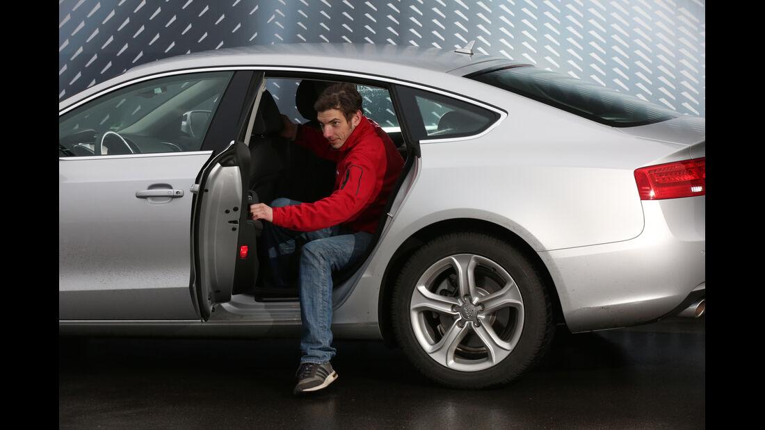 Audi A5 Sportback 2.0 TDI Ultra, Fondsitz, Aussteigen