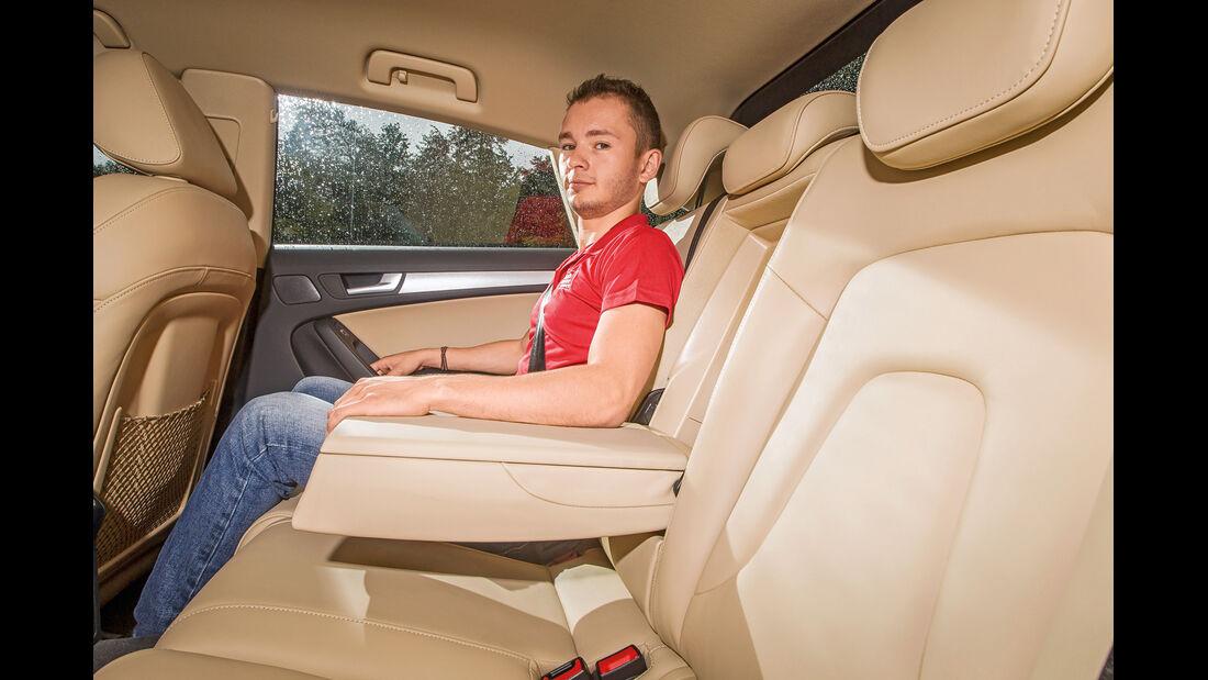 Audi A5 Sportback 3.0 TFSI, Rücksitz, Beinfreiheit