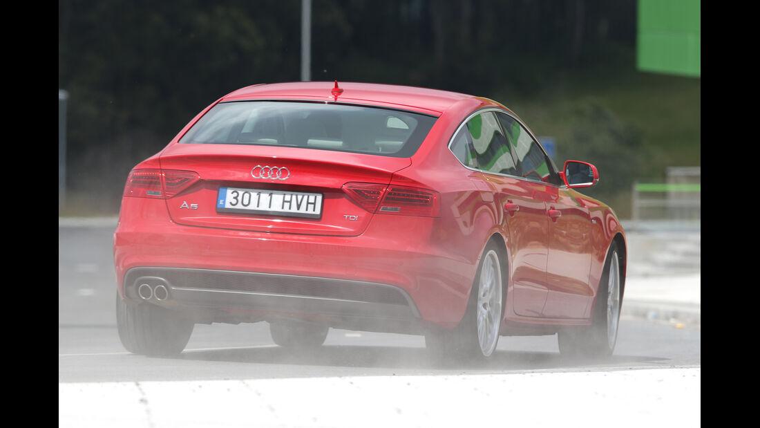 Audi A5 Sportback, Heckansicht
