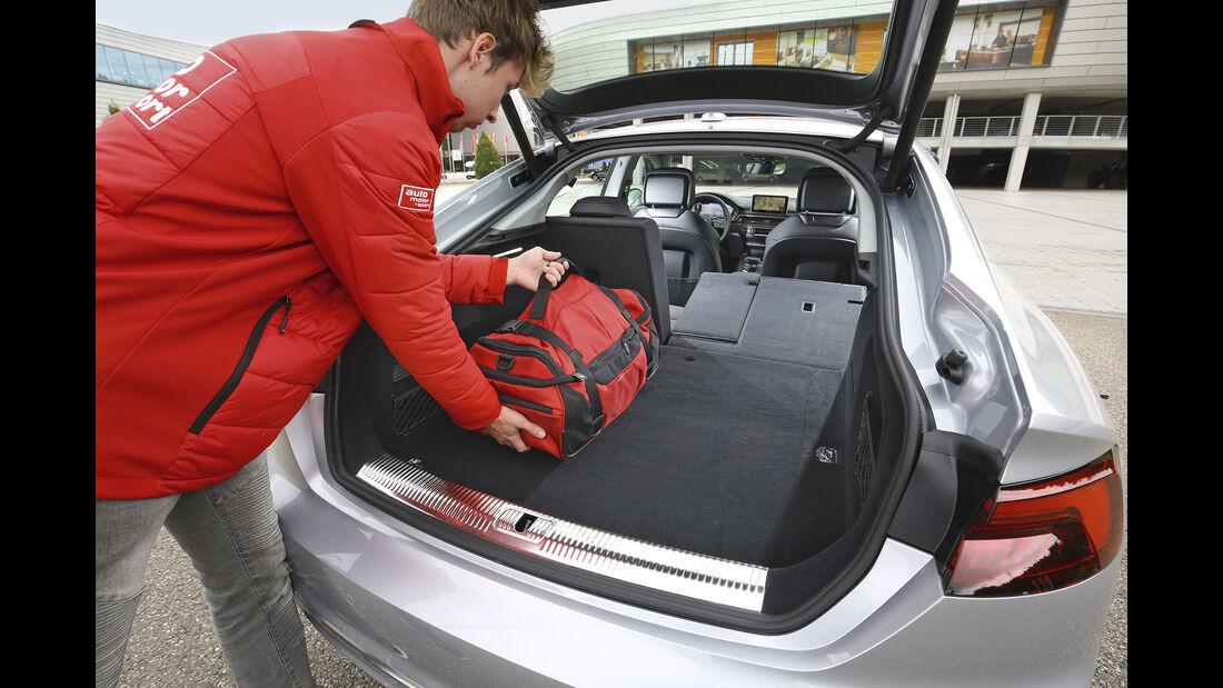 Audi A5 Sportback, Kofferraum