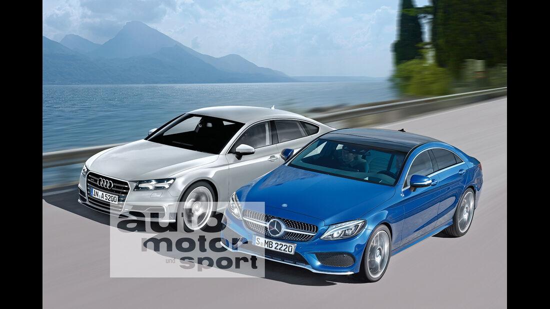 Audi A5 Sportback, Mercedes CLC, Frontansicht