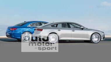 Audi A5 Sportback, Mercedes CLC, Seitenansichrt