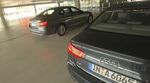 Audi A6 2.0 TDI, BMW 520d EDE, Heckansicht