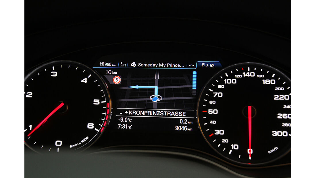 Audi A6 2.0 TDI, Cockpit, Instrumente