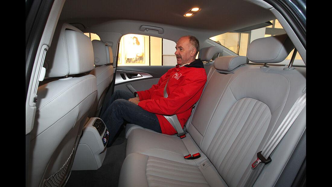 Audi A6 2.0 TDI, Inneraum, Sitze hinten, Beinfreiheit