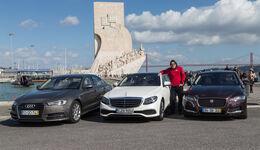 Audi A6 2.0 TDI Quattro, Mercedes E 220 d, Jaguar XF 20d