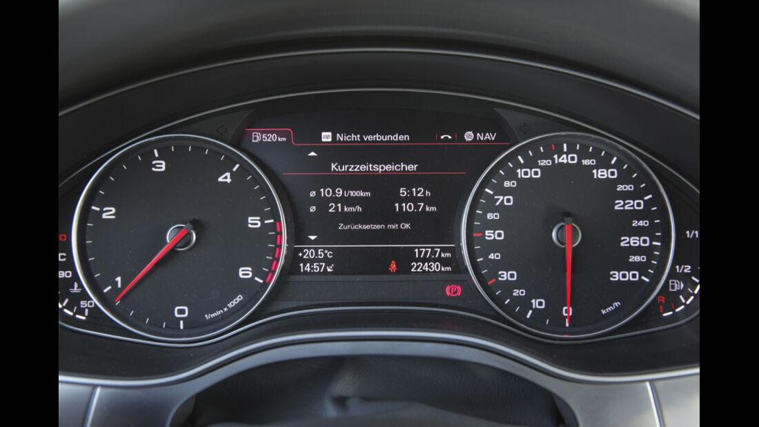 Audi A6 2.0 TDI, Rundinstrumente