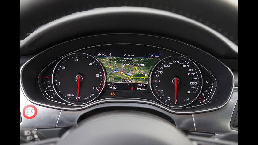 Audi A6 2.0 TDI, Rundinstrumente, Navi