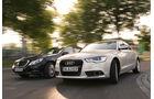 Audi A6 2.0 TDI Ultra, Mercedes E 220 Bluetec, Frontansicht