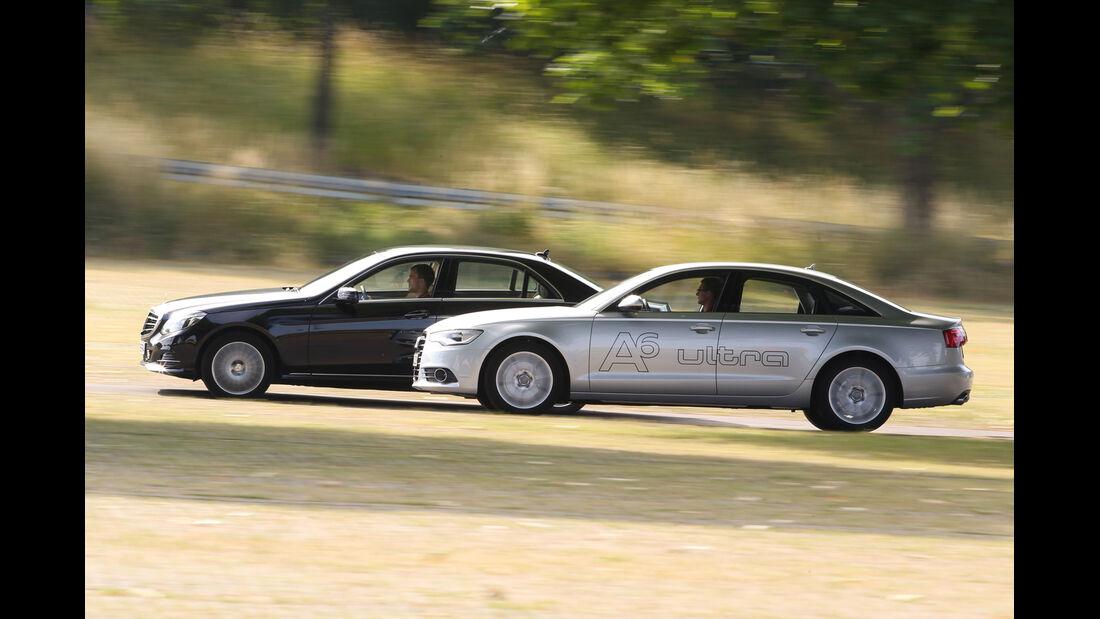 Audi A6 2.0 TDI Ultra, Mercedes E 220 Bluetec, Seitenansicht
