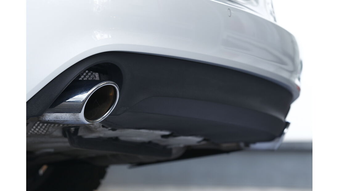 Audi A6 3.0 TD, Auspuff, Endrohre