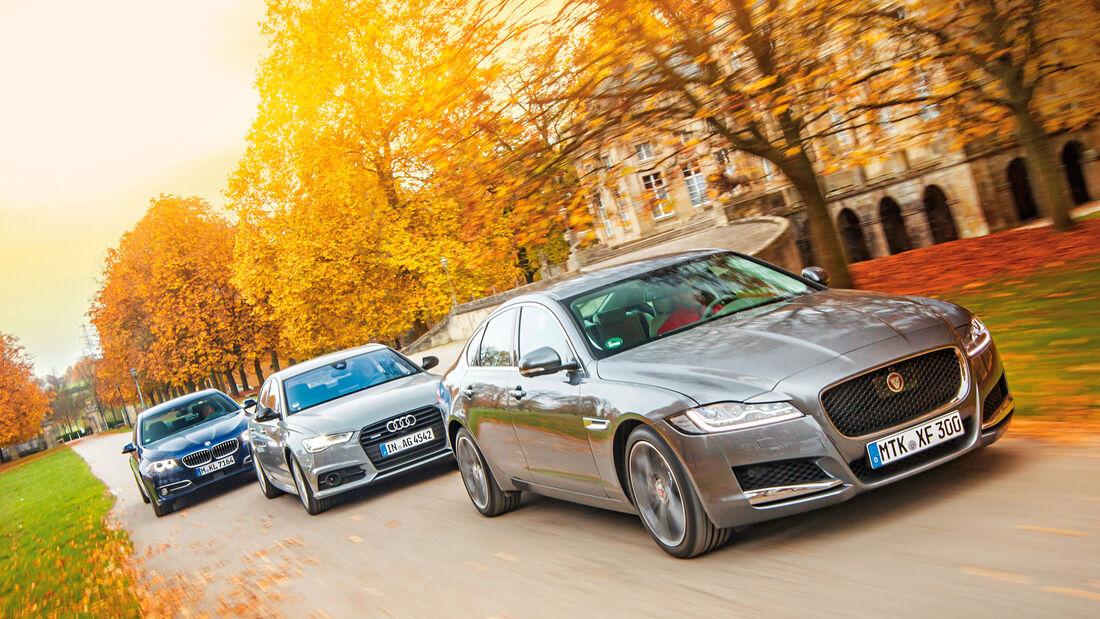 Audi A6 3.0 TDI, BMW 535d, Jaguar XF 30d