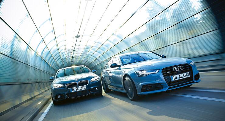 audi a6 3.0 tdi competition und bmw 535d im test - auto motor und sport