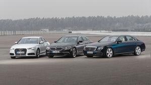 Audi A6 3.0 TDI Quattro, BMW 530d, Mercedes E 350 d