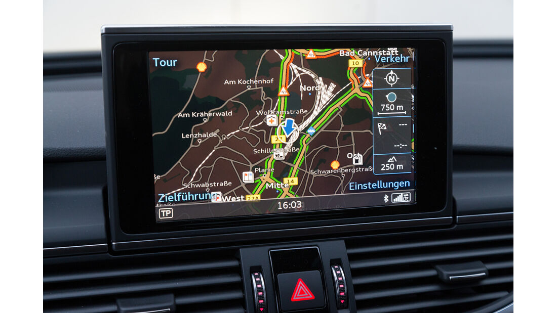 Audi A6 3.0 TDI Quattro, Bildschirm, Navi