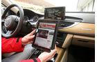 Audi A6, 3.0 TFSI quattro, Innenraum, Cockpit, iPad