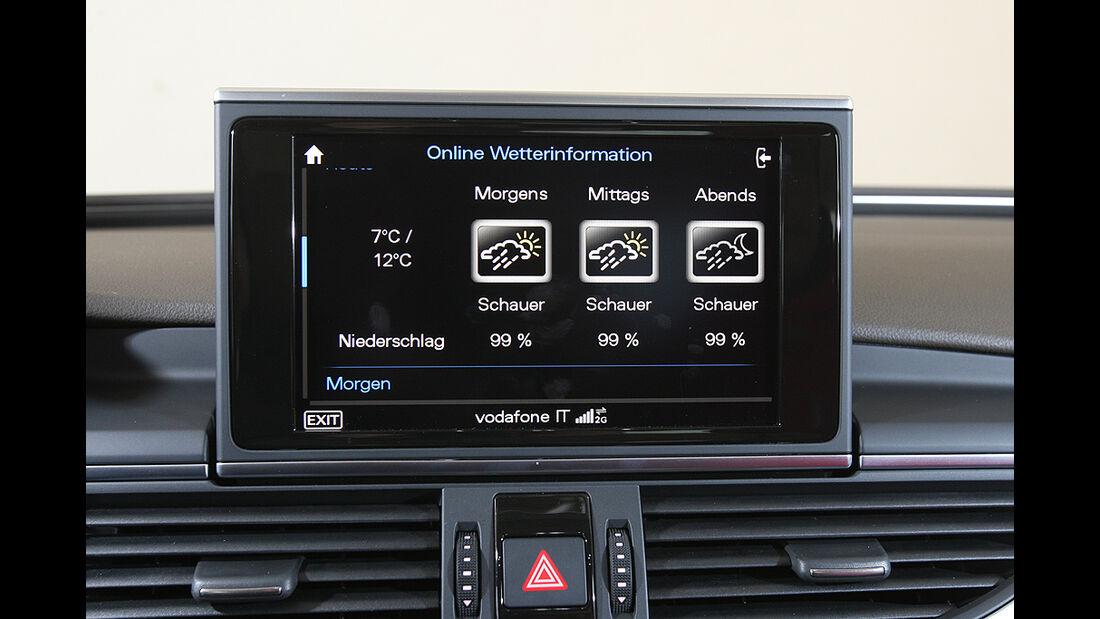 Audi A6, 3.0 TFSI quattro, Monitor, Wetterinformationen