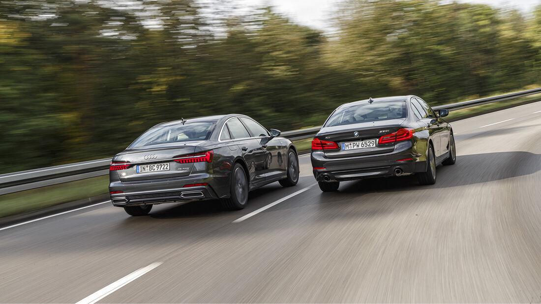 Audi A6 45 TFSI Quattro Sport, BMW 530i xDrive Sport Line, Exterieur