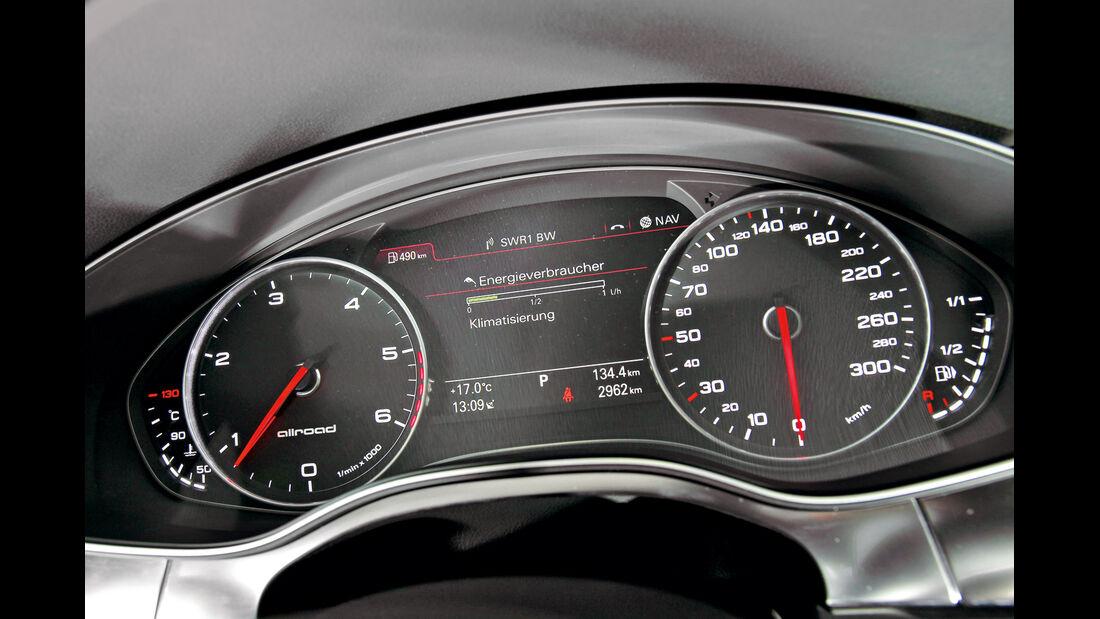 Audi A6 Allroad, Rundinstrumente, Tacho