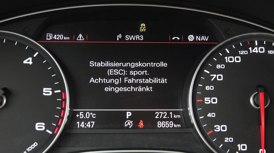 Audi A6, Anzeige, Display