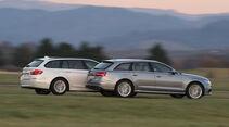 Audi A6 Avant 2.0 TDI Ultra, BMW 520d Touring, Seitenansicht