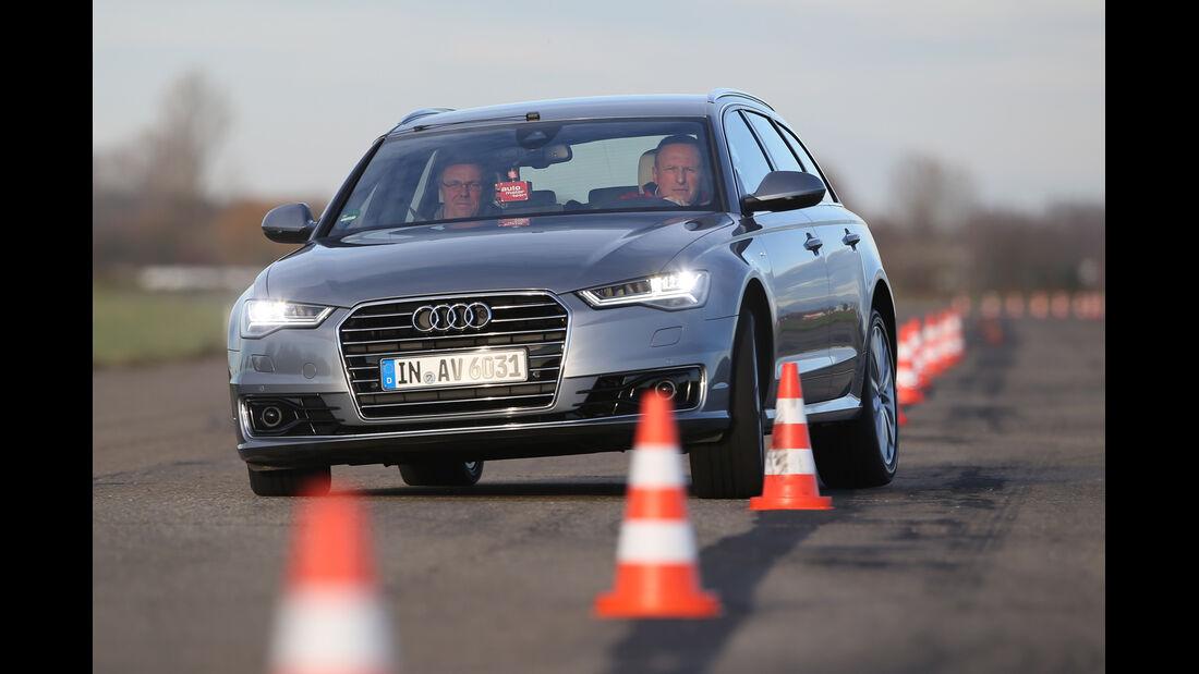 Audi A6 Avant 2.0 TDI Ultra, Frontansicht, Slalom