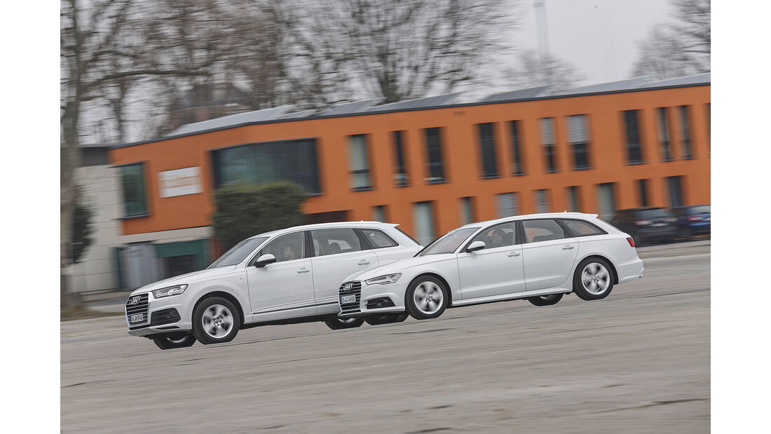 Audi A6 Avant 3.0 TDI Quattro, Audi Q7 3.0 TDI Quattro, Exterieur Seite
