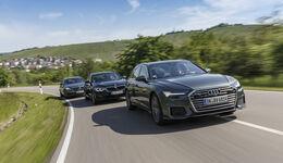 Audi A6 Avant 50 TDI, BMW 530d Touring, Mercedes E 350 d T-Modell, Exterieur