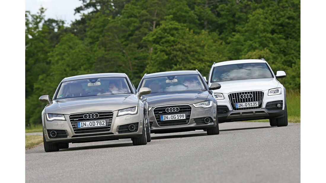 Audi A6 Avant, A7, Q5, Frontansicht