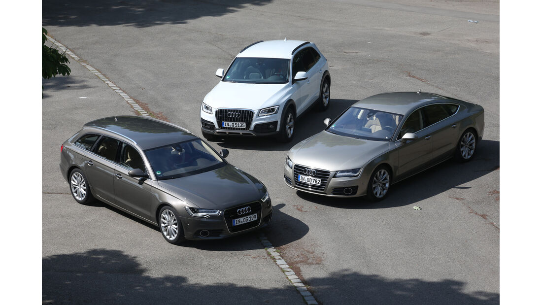 Audi A6 Avant, A7, Q5, Gruppenbild
