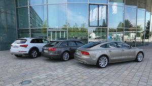 Audi A6 Avant, A7, Q5, Heckansicht