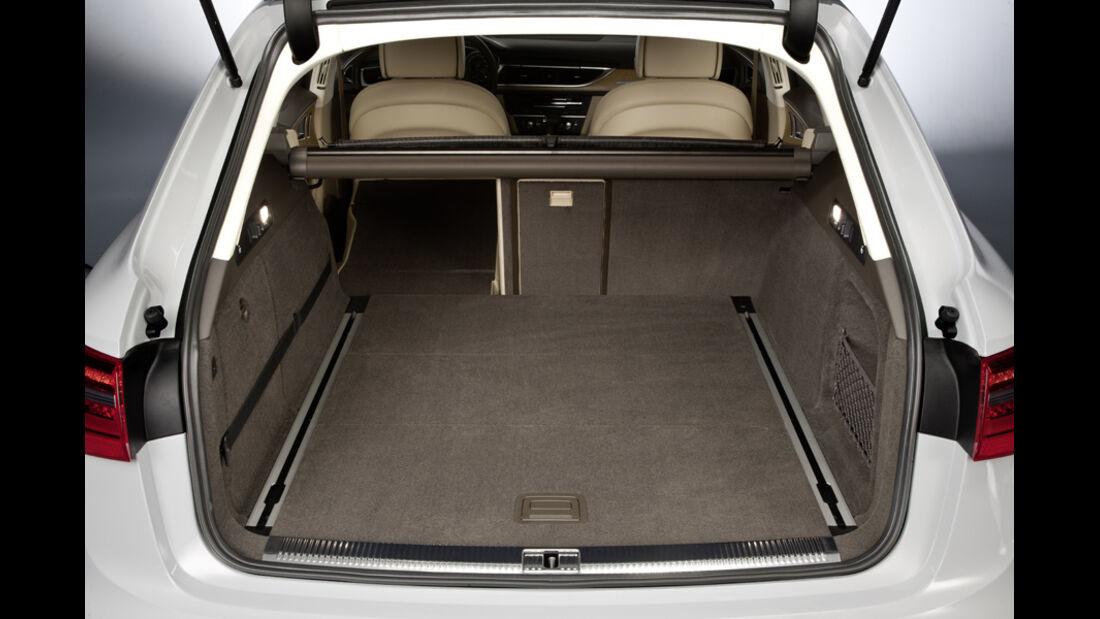Audi A6 Avant, Kofferraum, Rückbank umgeklappt, Ladevolumen