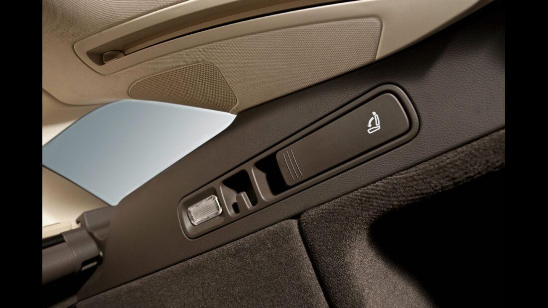 Audi A6 Avant, Rückbank, Schalter, Sitz umklappbar, Detail