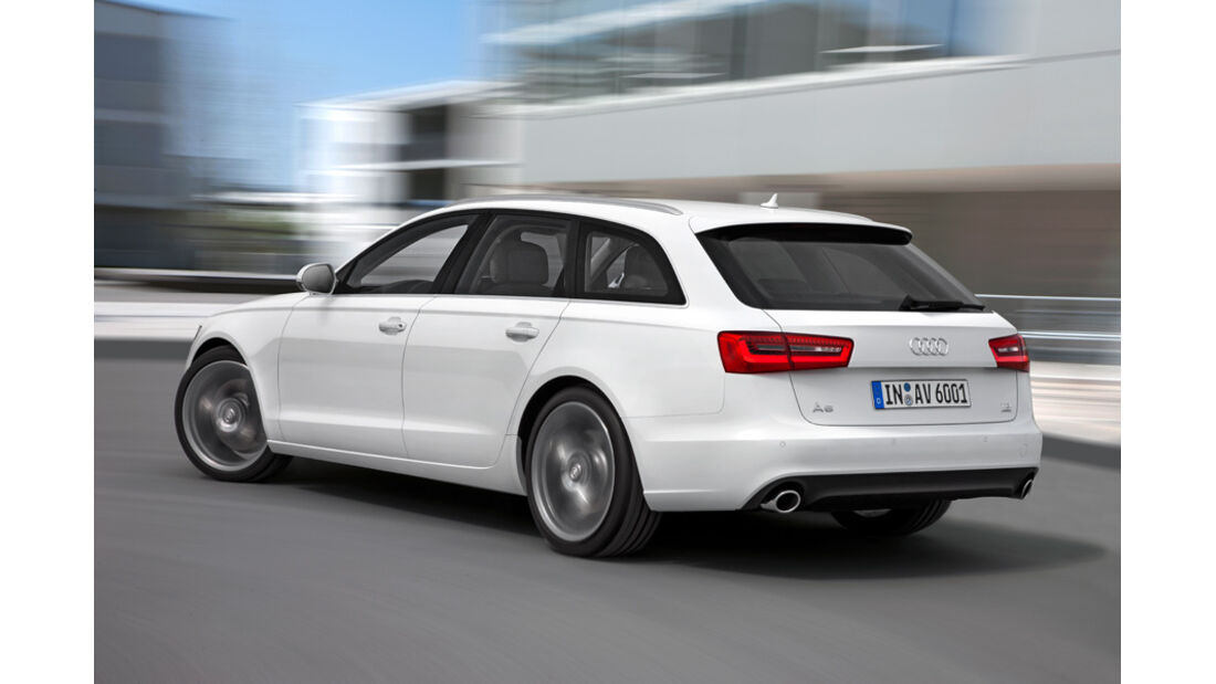 Audi A6 Avant, Seitenansicht, Kurve