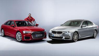Audi A6 C8 und BMW 5er G30 im Vergleich