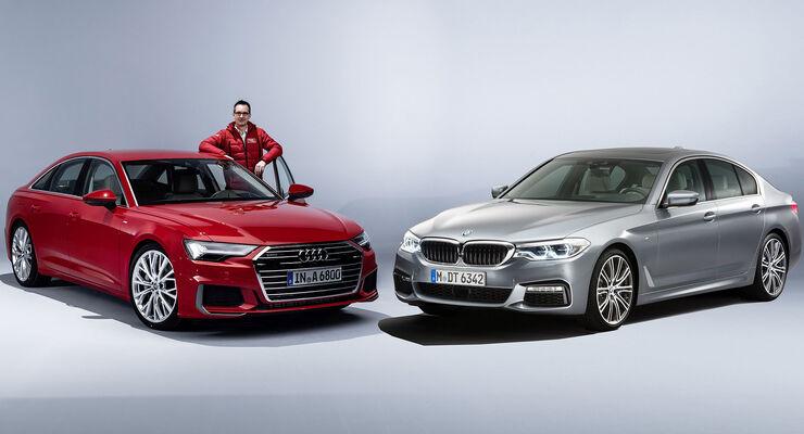 Neuer Audi A6 C8 2018 Und Bmw 5er Im Vergleich Auto