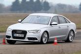 Audi A6, Frontansicht, Slalom