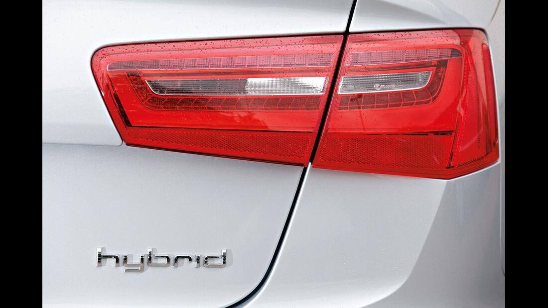 Audi A6 Hybrid, Heckleuchte, Typenbezeichnung