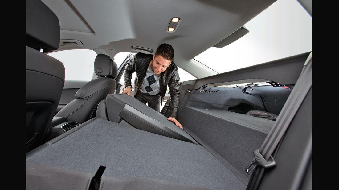 Audi A6 Hybrid, umklappbare Rückbank