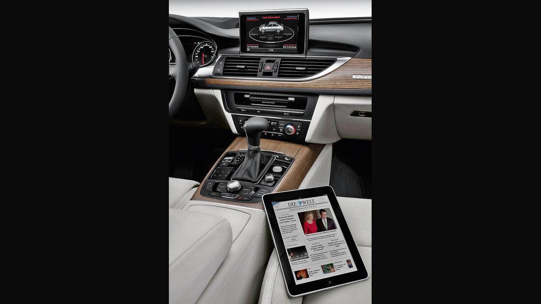 Audi A6, Innenraum, Cockpit, iPad
