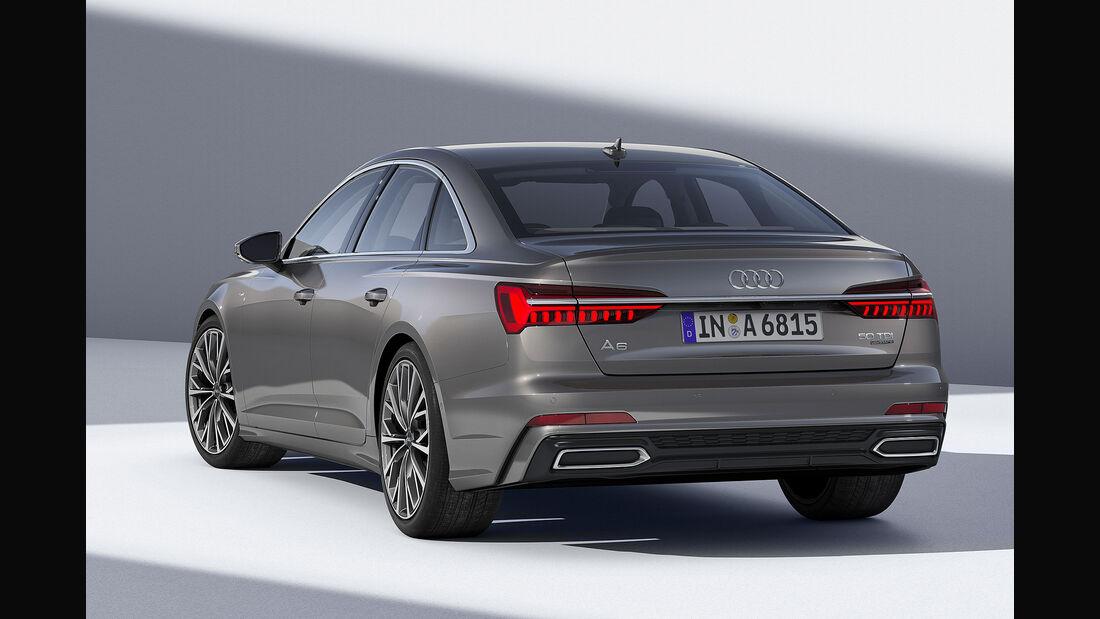 Audi A6 Limousine 50 TDI Quattro grau (2018)