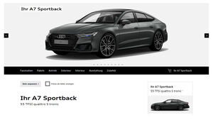Audi A7 2018 Konfigurator Vollausstattung