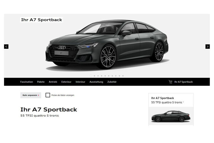 neuer audi a7 sportback 2018 test daten marktstart. Black Bedroom Furniture Sets. Home Design Ideas