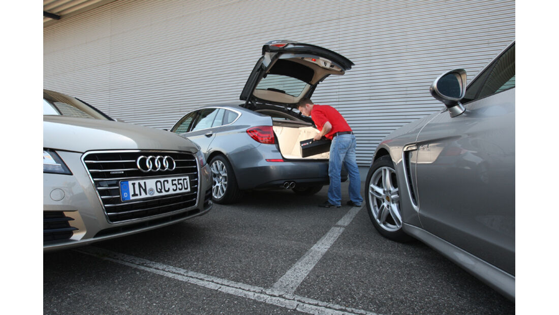 Audi A7 3.0 TDI, BMW 530d GT, Porsche Panamera D, Gruppenbild