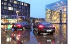 Audi A7 Sportback 3.0 TDI Quattro, Porsche Panamera Diesel, Heckansicht