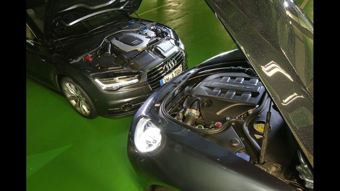 Audi A7 Sportback 3.0 TDI Quattro, Porsche Panamera Diesel, Motoren