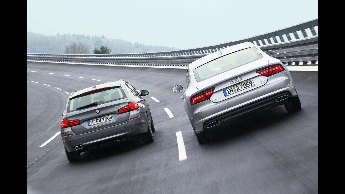 Audi A7 Sportback 3.0 TDI Ultra, BMW 525d Touring